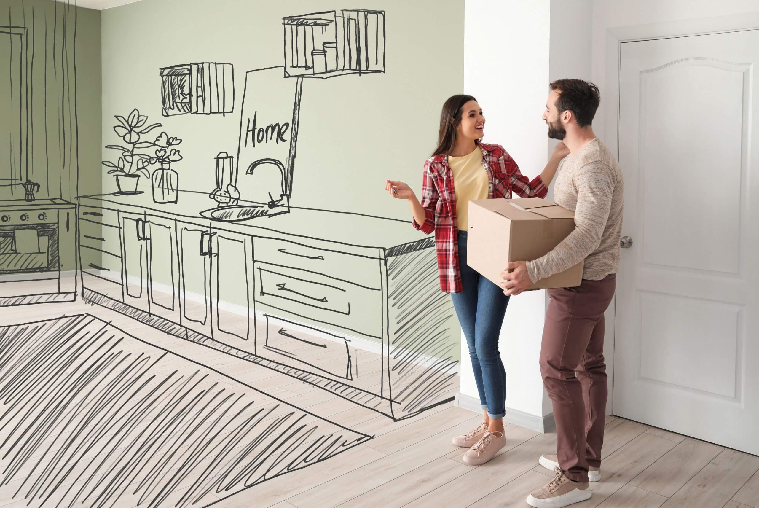 Buying your dream house - Envisioning your furniture arrangement.